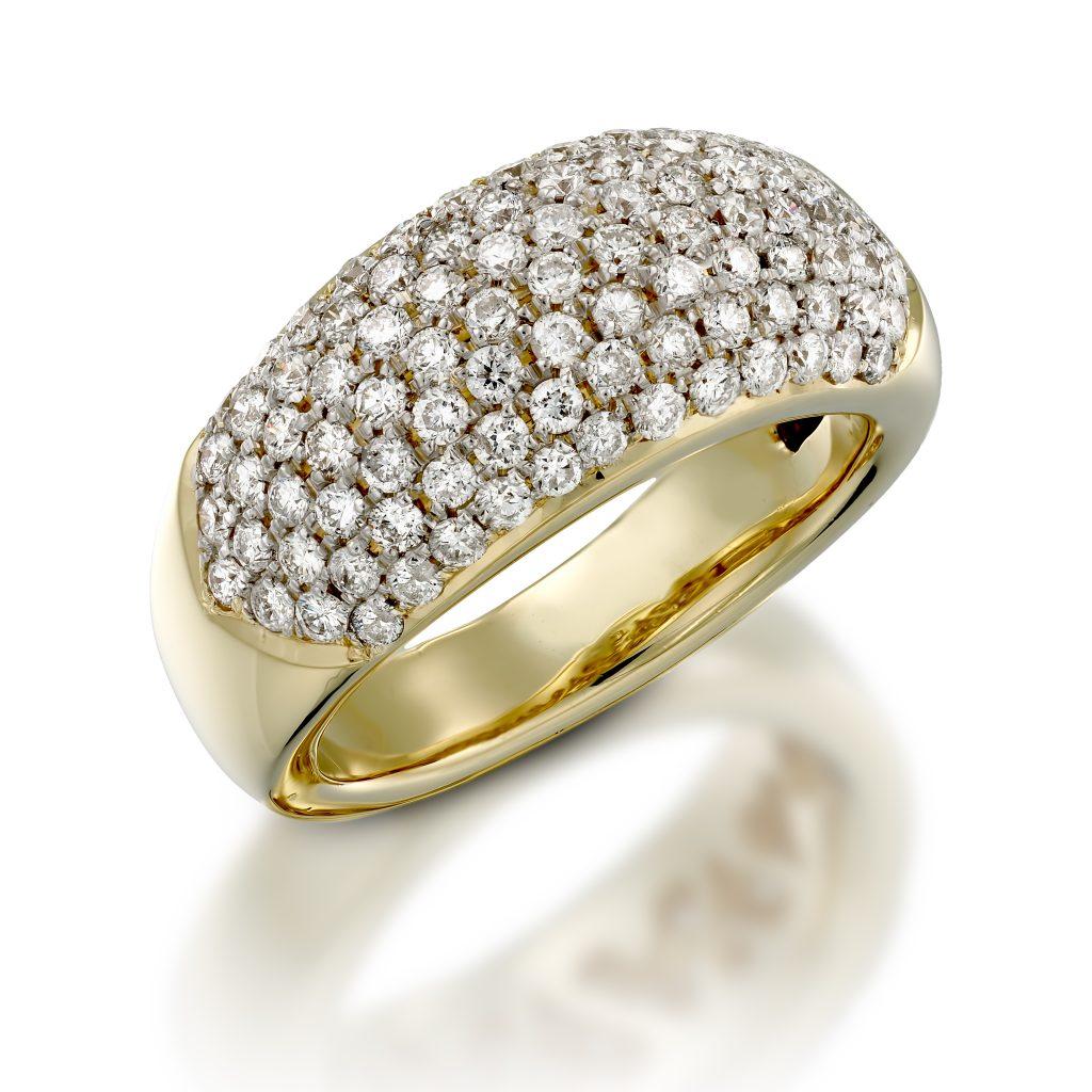 טבעת יהלומים D01