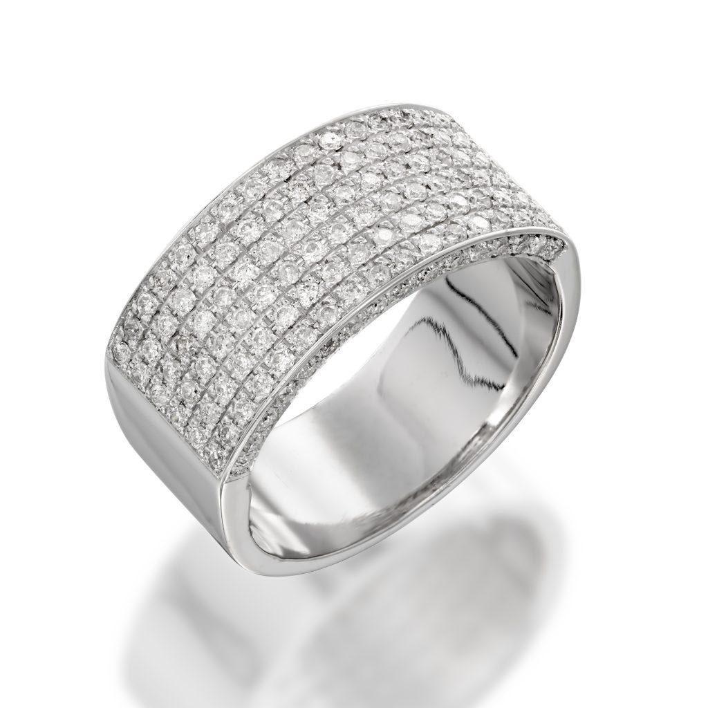 טבעת יהלומים - D03