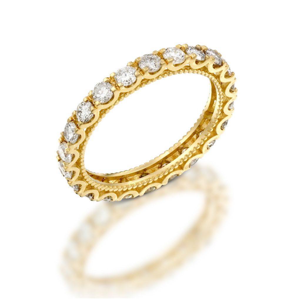 טבעת יהלומים D04