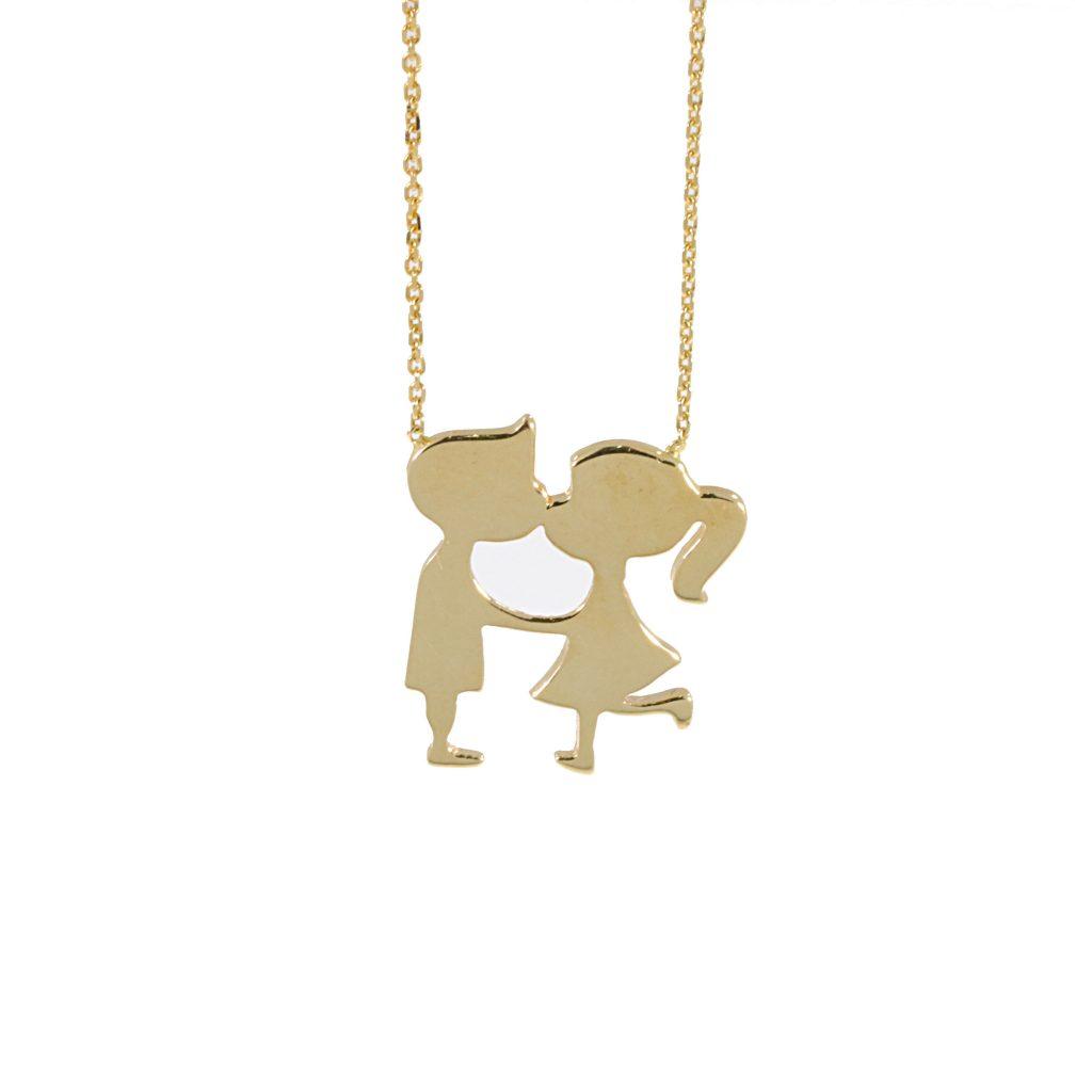 תליון ושרשרת זהב צהוב P02