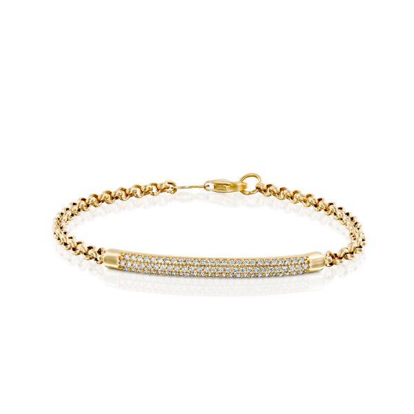 צמיד זהב מעיין זהב צהוב