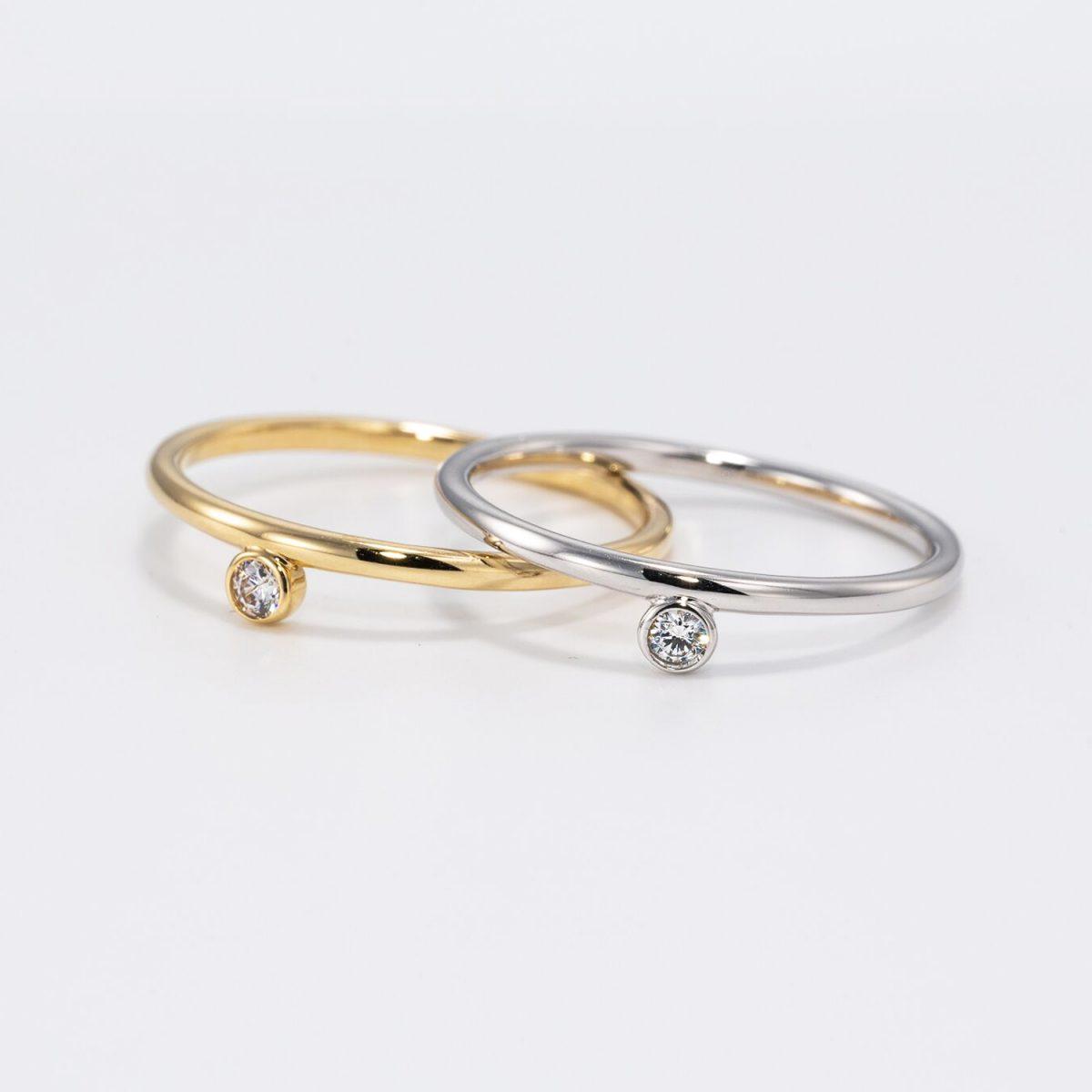טבעת יהלום אלה