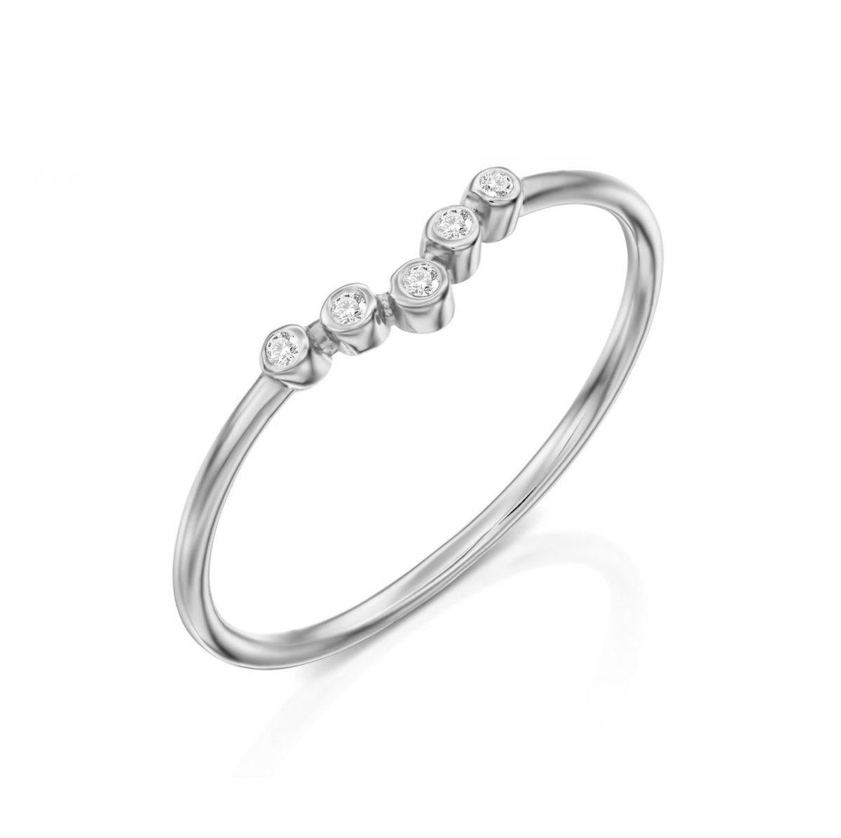 טבעת יהלומים - ליר