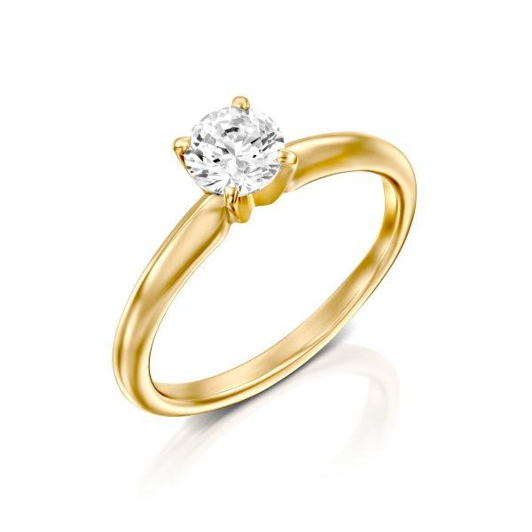 מתוחכם טבעת אירוסין - רוני - ג׳קסון תכשיטים GJ-17