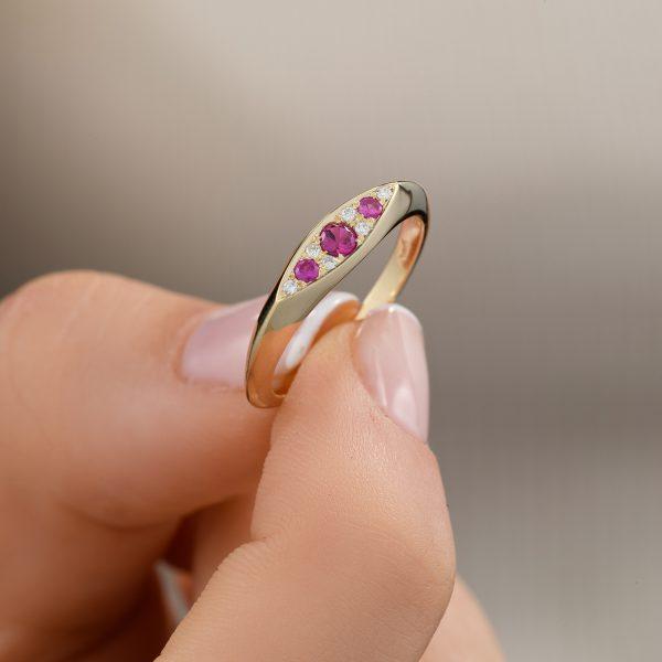טבעת וינטג׳ יהלומים - רותי