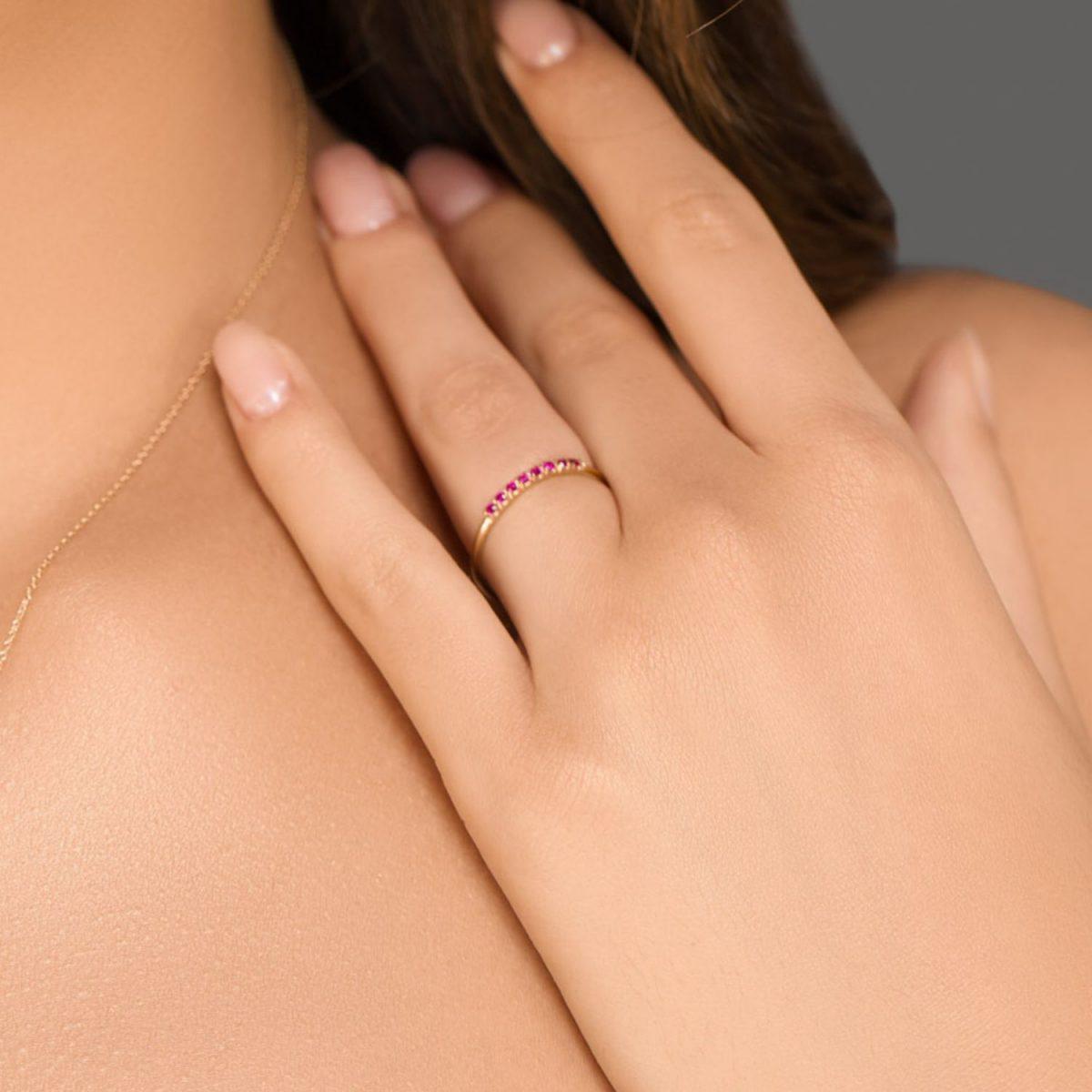 טבעת יהלומים יולי אבני רובי