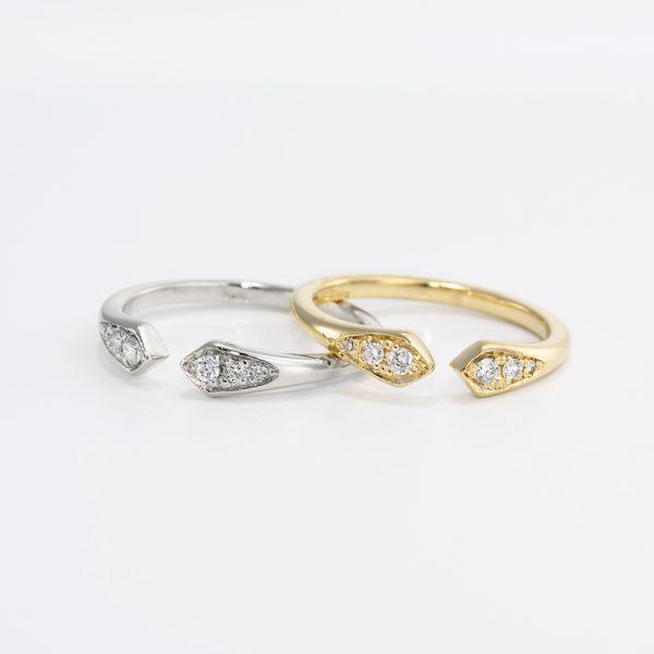 טבעת יהלומים פתוחה - שרה