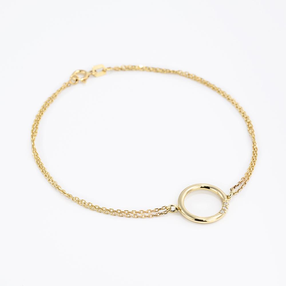 צמיד זהב יהלום - גליה