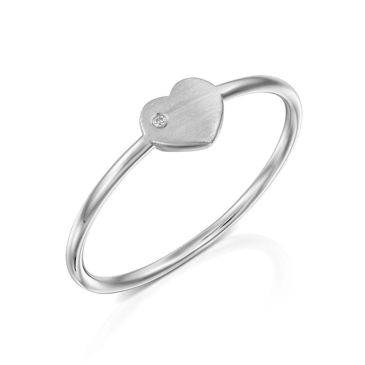 טבעת יהלום - לב