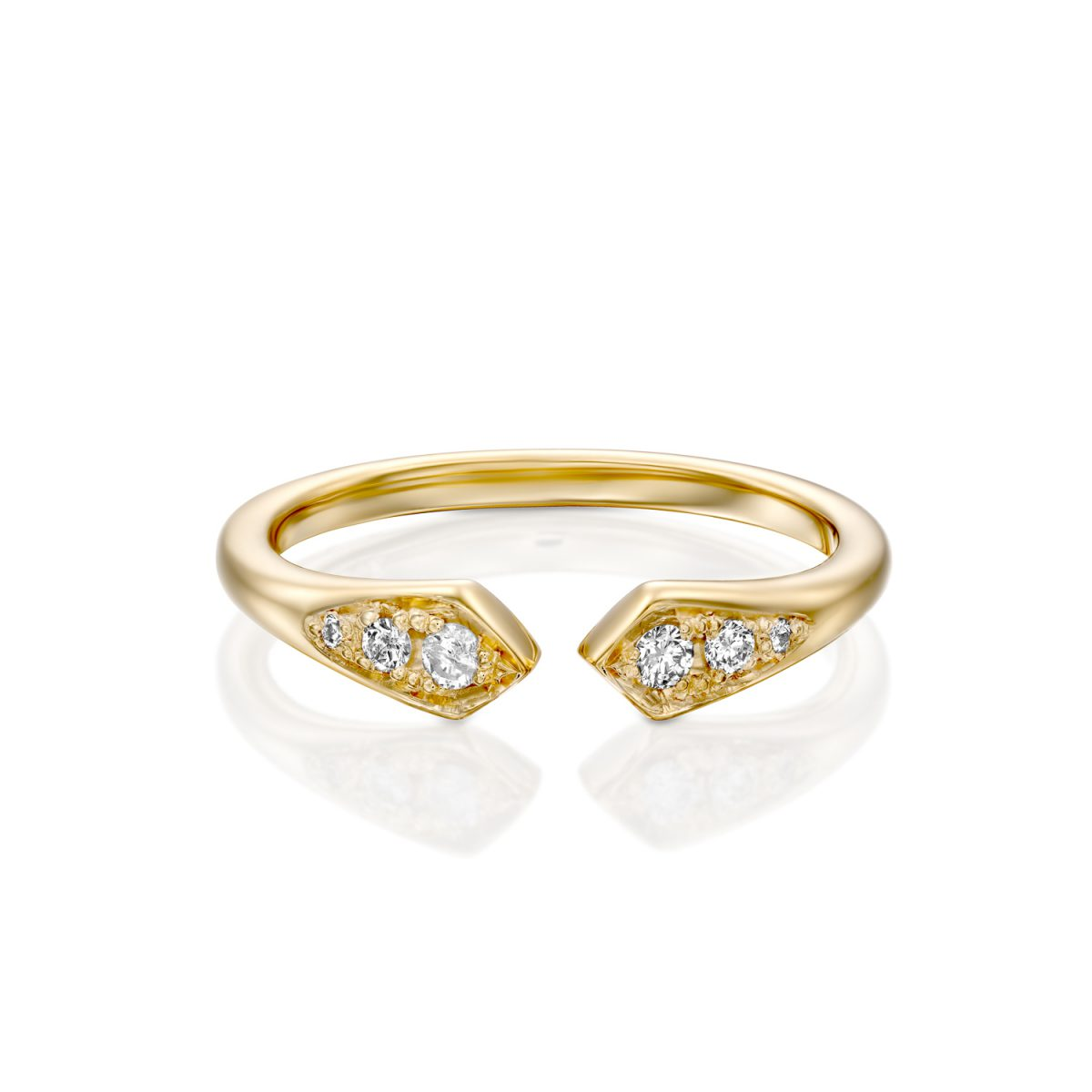 טבעת וינטג׳ יהלומים - שרה