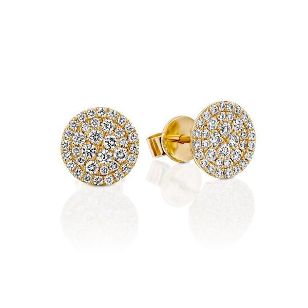 עגילי יהלומים - זהב נעמה