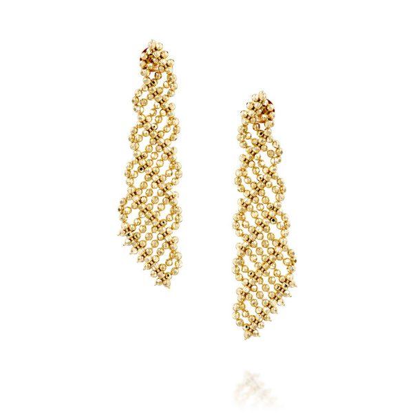 עגילי זהב נופלים - דורין