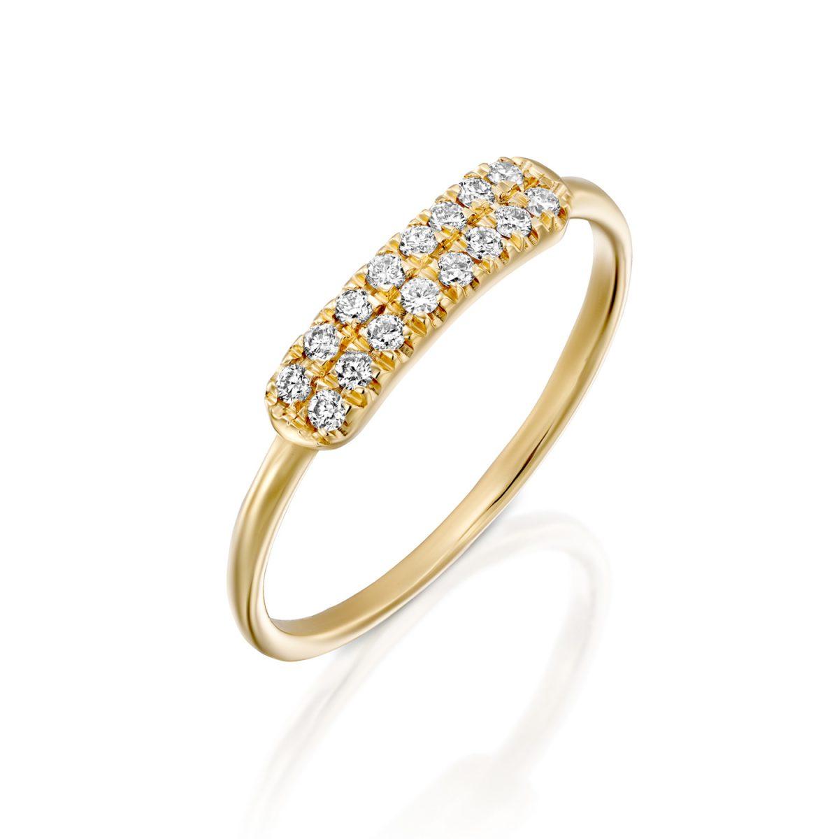 טבעת וינטג׳ יהלומים - ירדנה