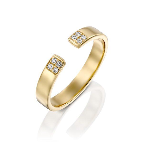 טבעת וינטג׳ יהלומים - עופרה