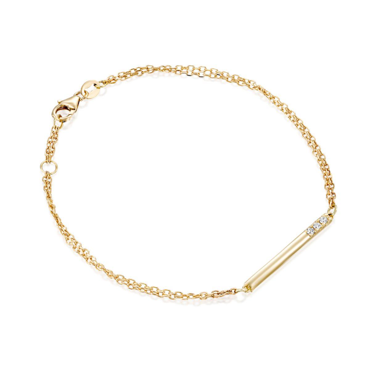 צמיד זהב יהלום - אופיר