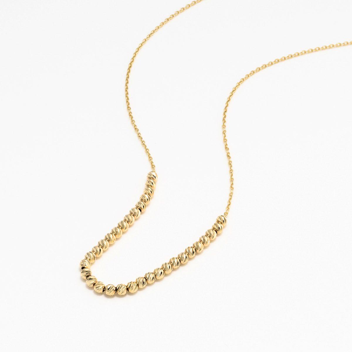שרשרת זהב כדורים