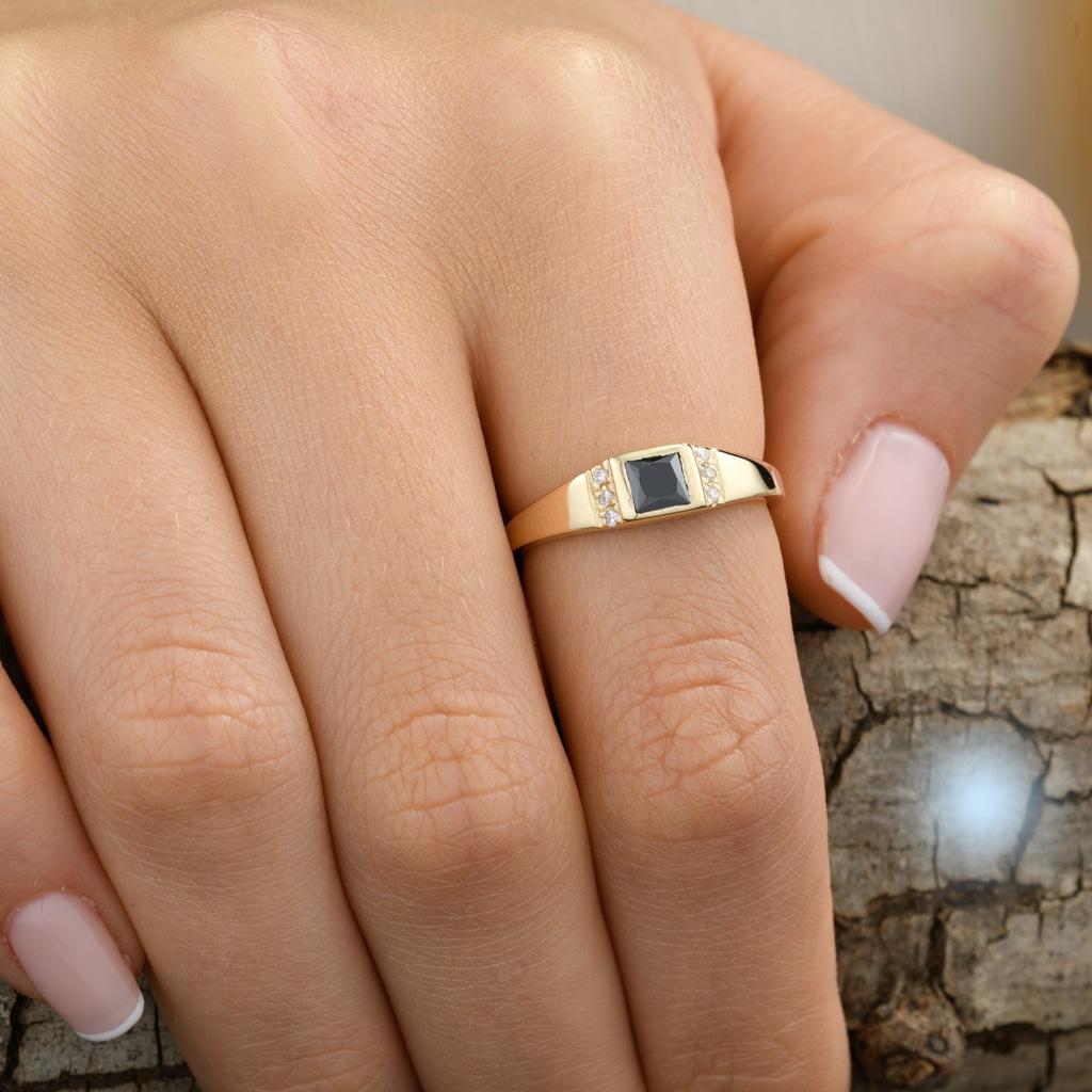 טבעת וינטג׳ אוניקס