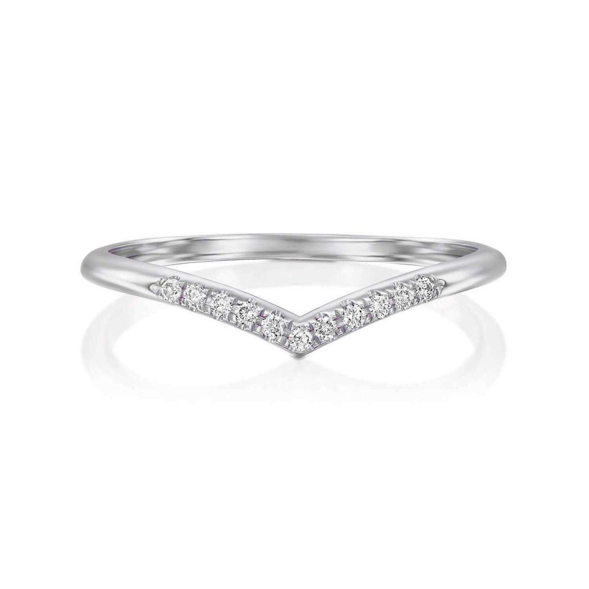 טבעת יהולמים תמר זהב לבן