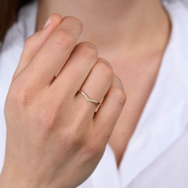 טבעת יהלומים תמר