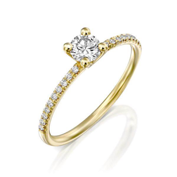 טבעת יהלומים גלי
