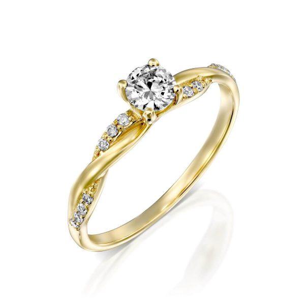טבעת יהלומים חני