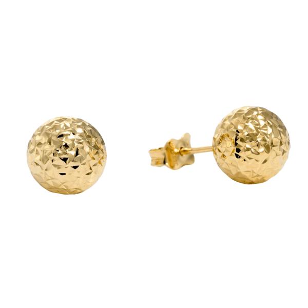 עגילי זהב כדור