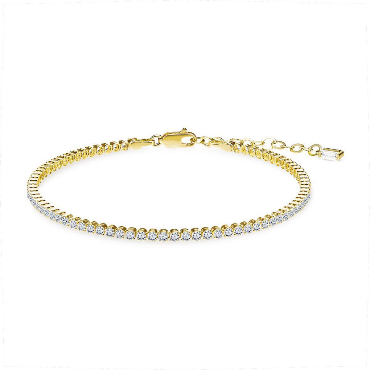 צמיד טניס - ונוס - זהב צהוב