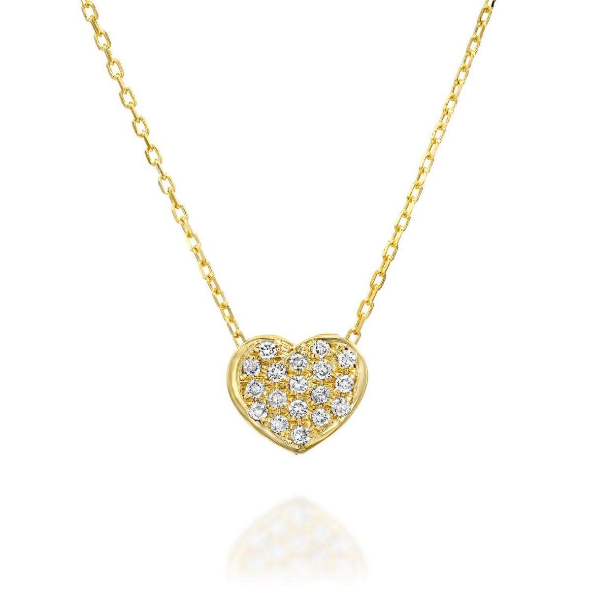 שרשרת יהלומים לב