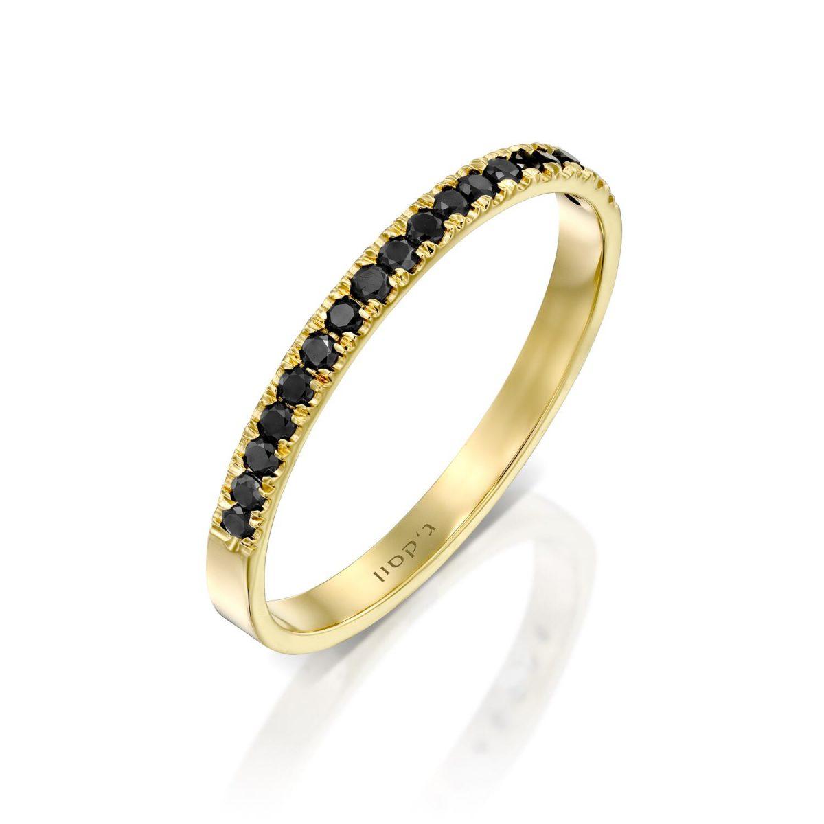 טבעת נילוס יהלומים שחורים