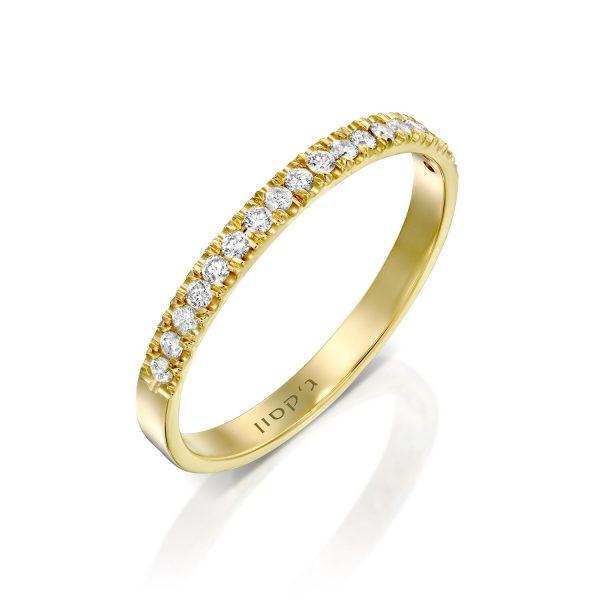 טבעת נילוס יהלומים לבנים