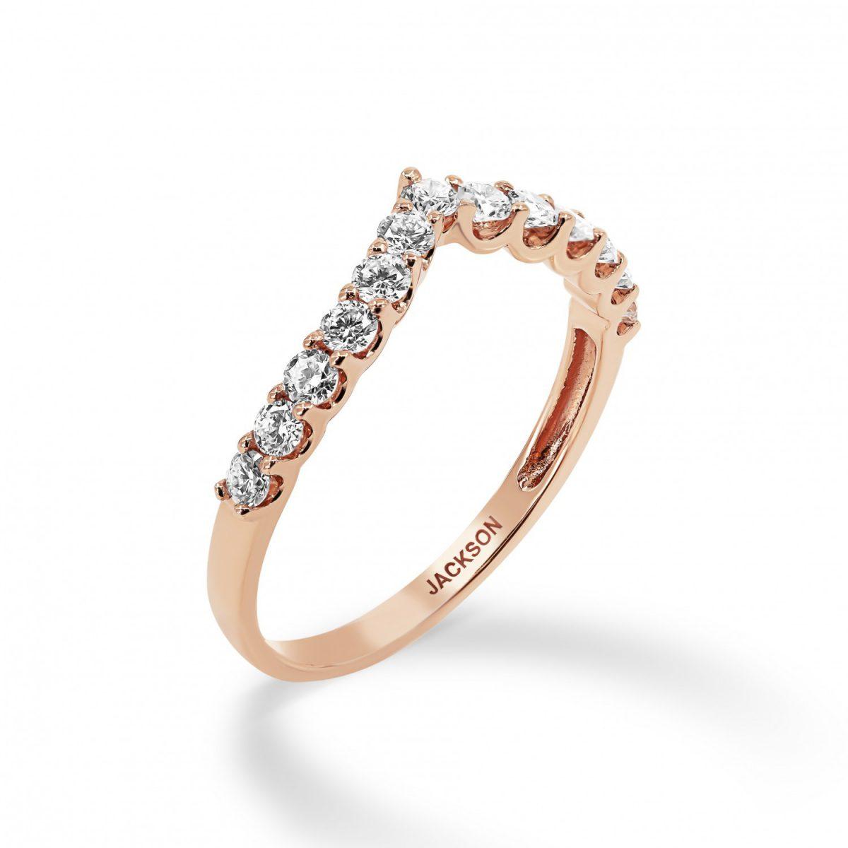 טבעת יהלומים גאיה זהב אדום