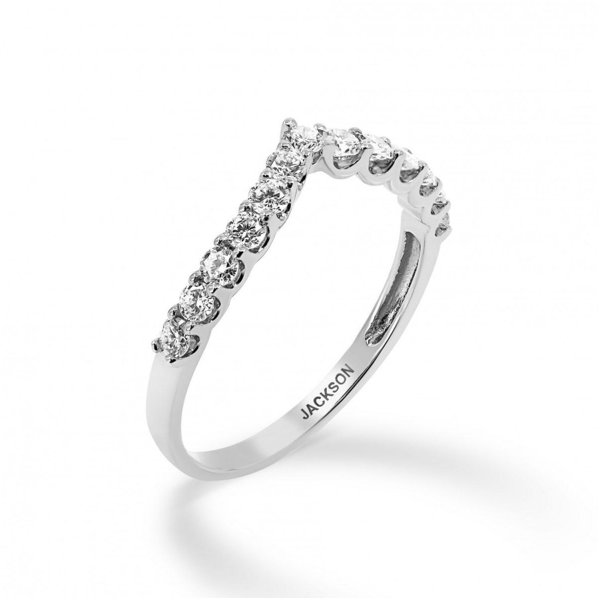 טבעת יהלומים גאיה זהב לבן