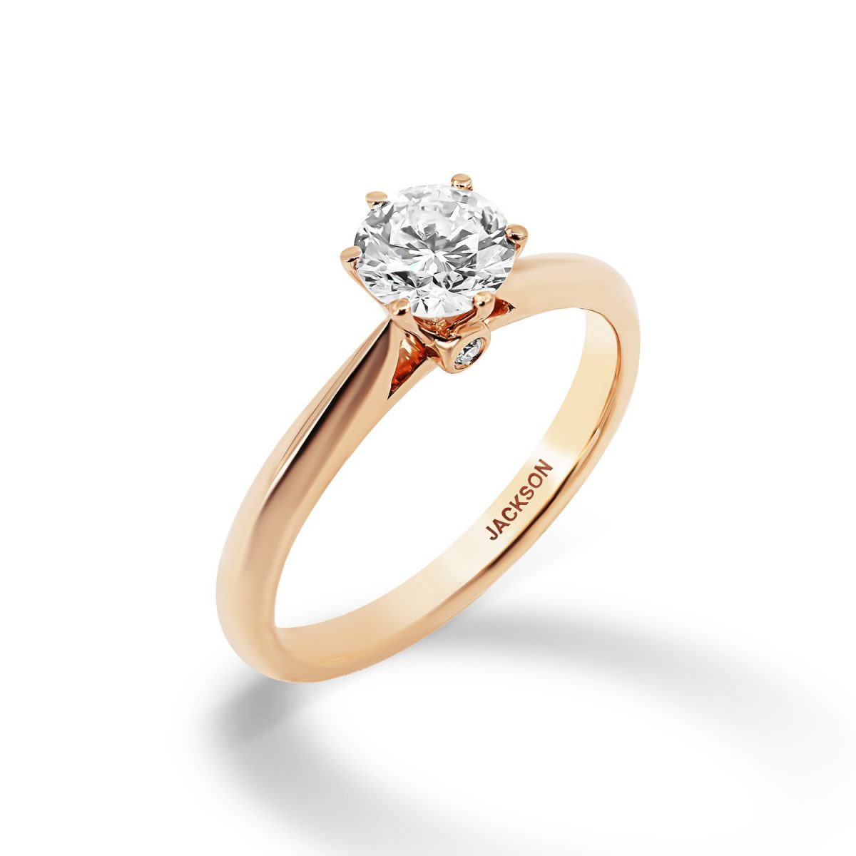 טבעת אירוסין ירדן זהב אדום