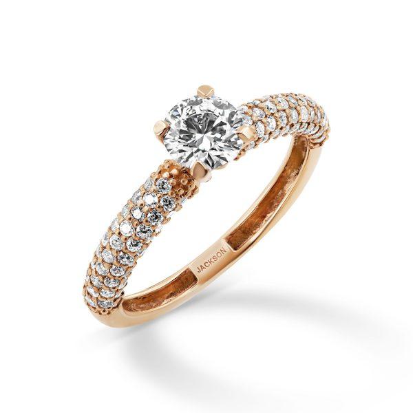 טבעת אירוסין כרמל זהב אדום