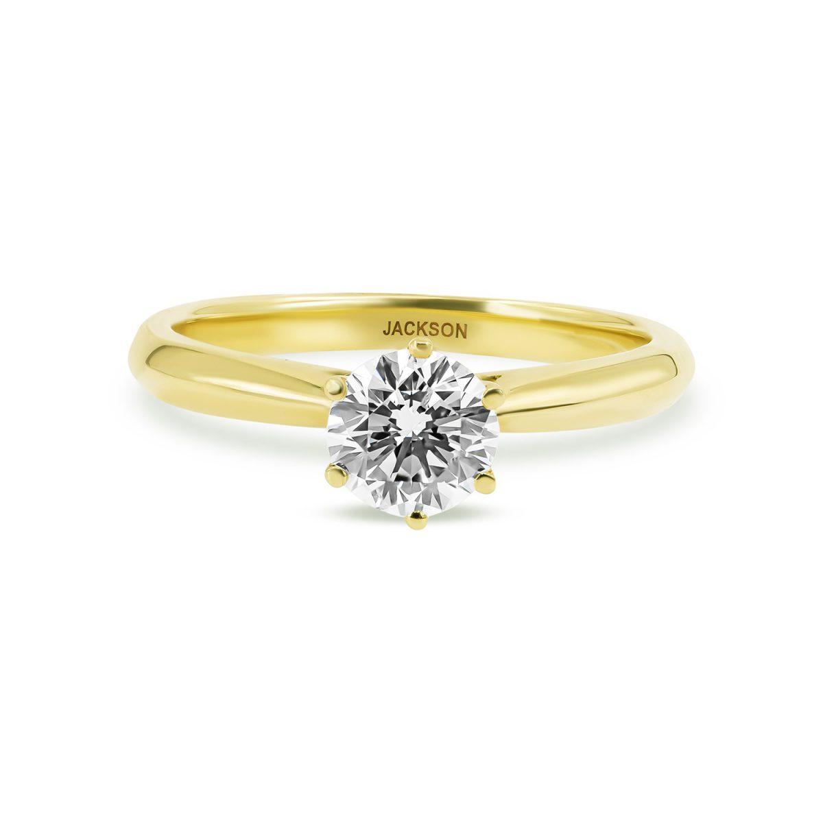 טבעת אירוסין ירדן זהב צהוב