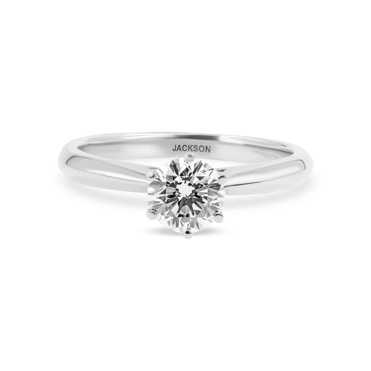 טבעת אירוסין ירדן זהב לבן