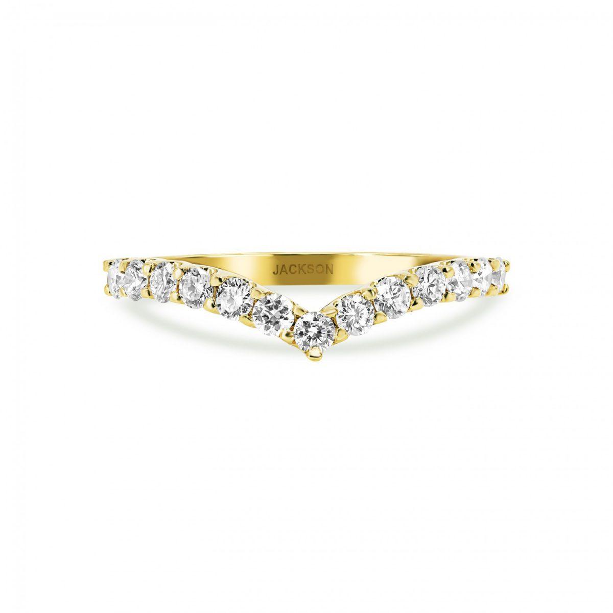 טבעת יהלומים גאיה זהב צהוב