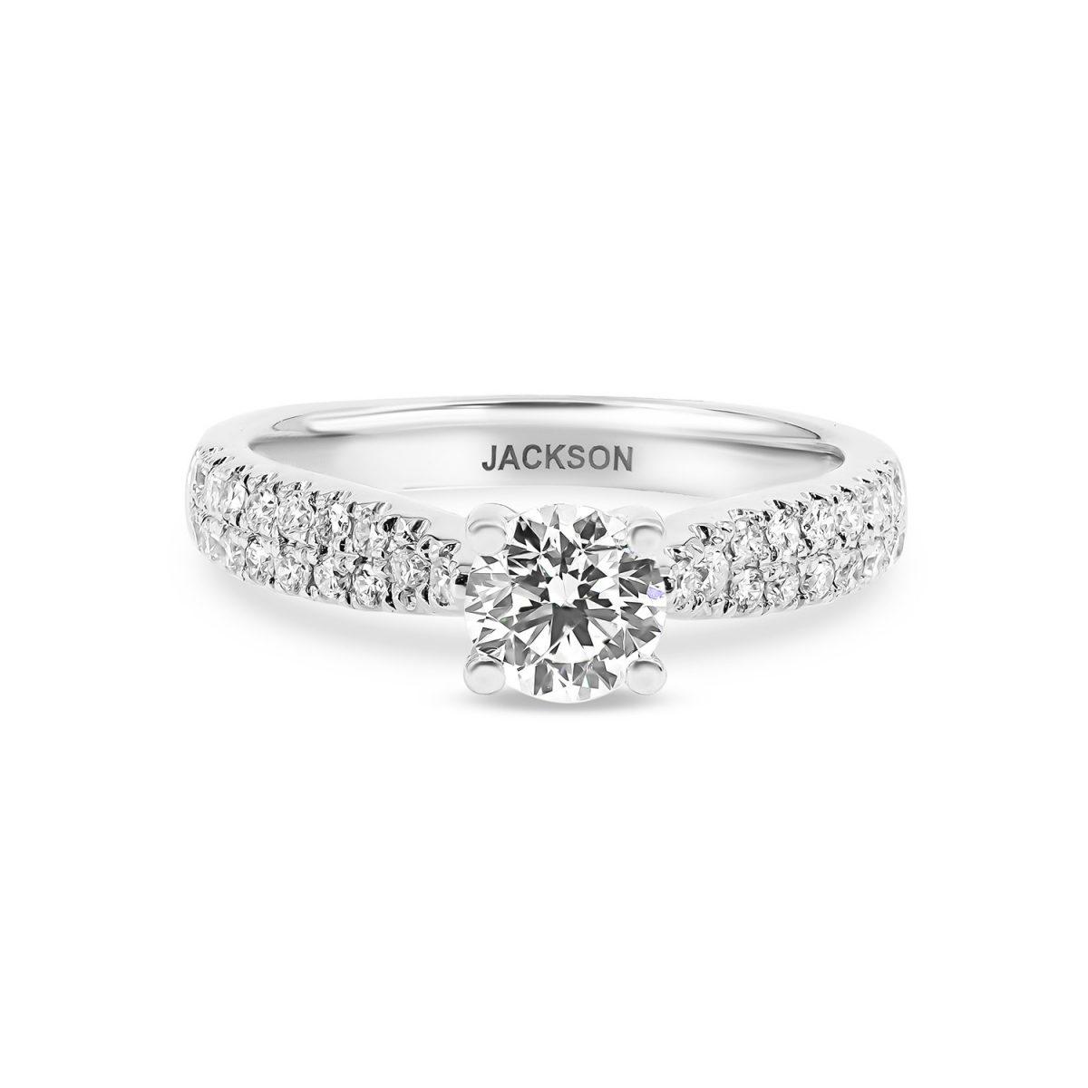 טבעת אירוסין קלי זהב לבן
