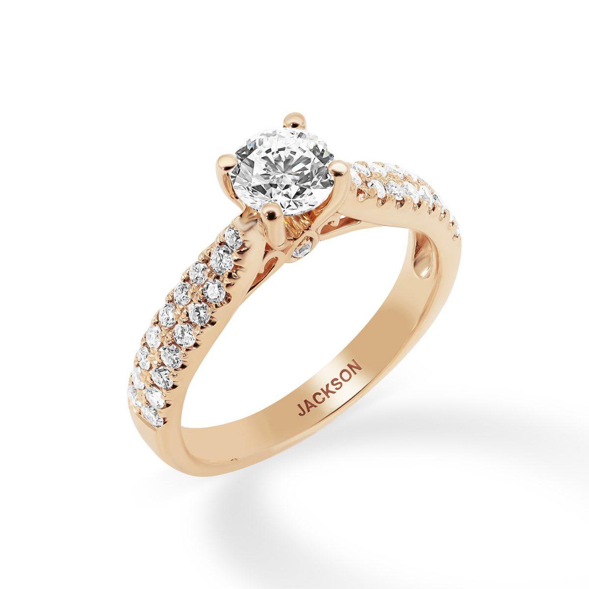 טבעת אירוסין קלי זהב אדום
