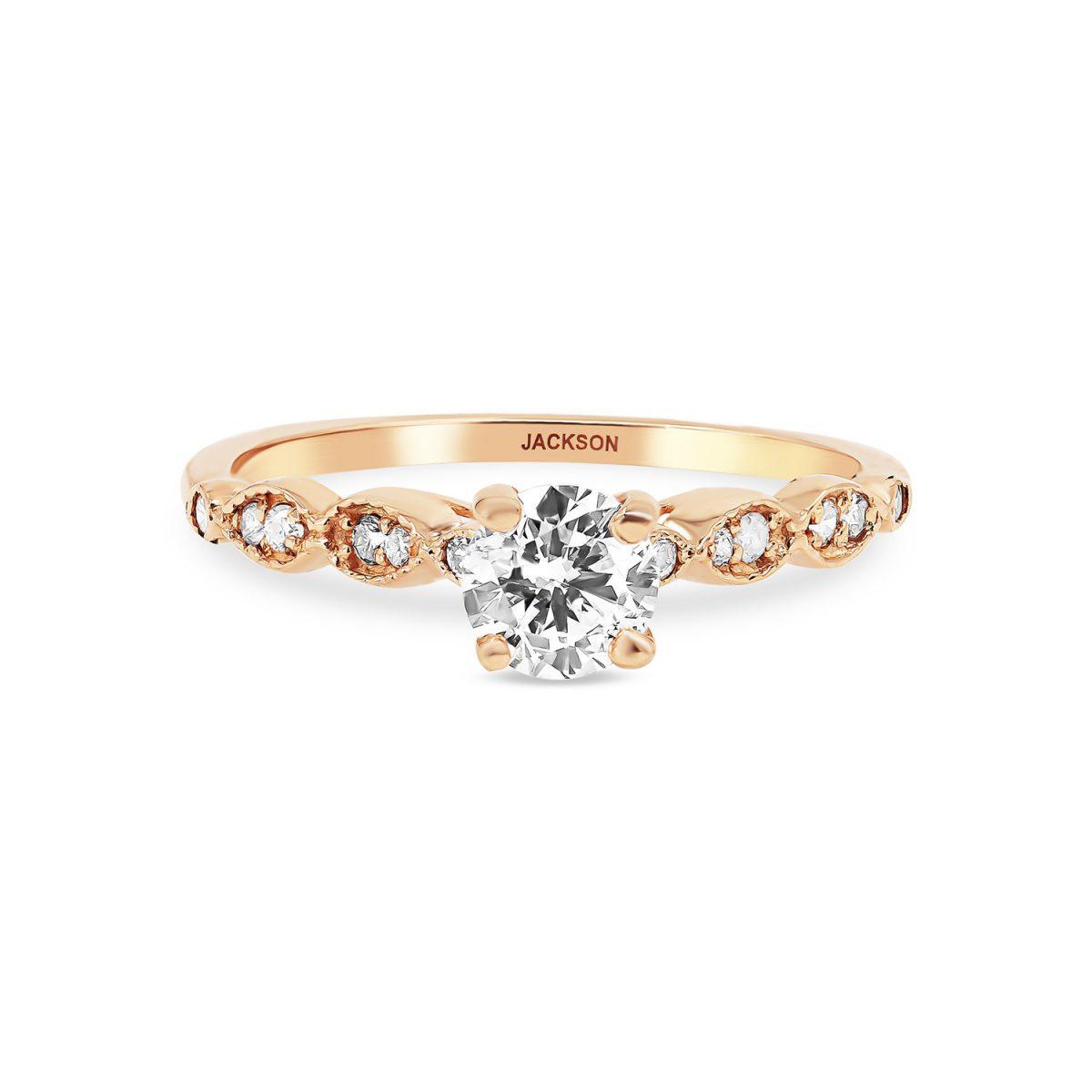 טבעת אירוסין לוטם זהב אדום