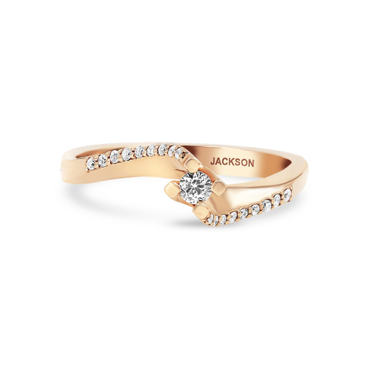 טבעת אירוסין ליאן זהב אדום