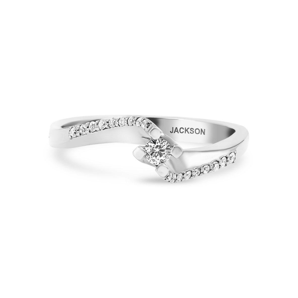 טבעת אירוסין ליאן זהב לבן