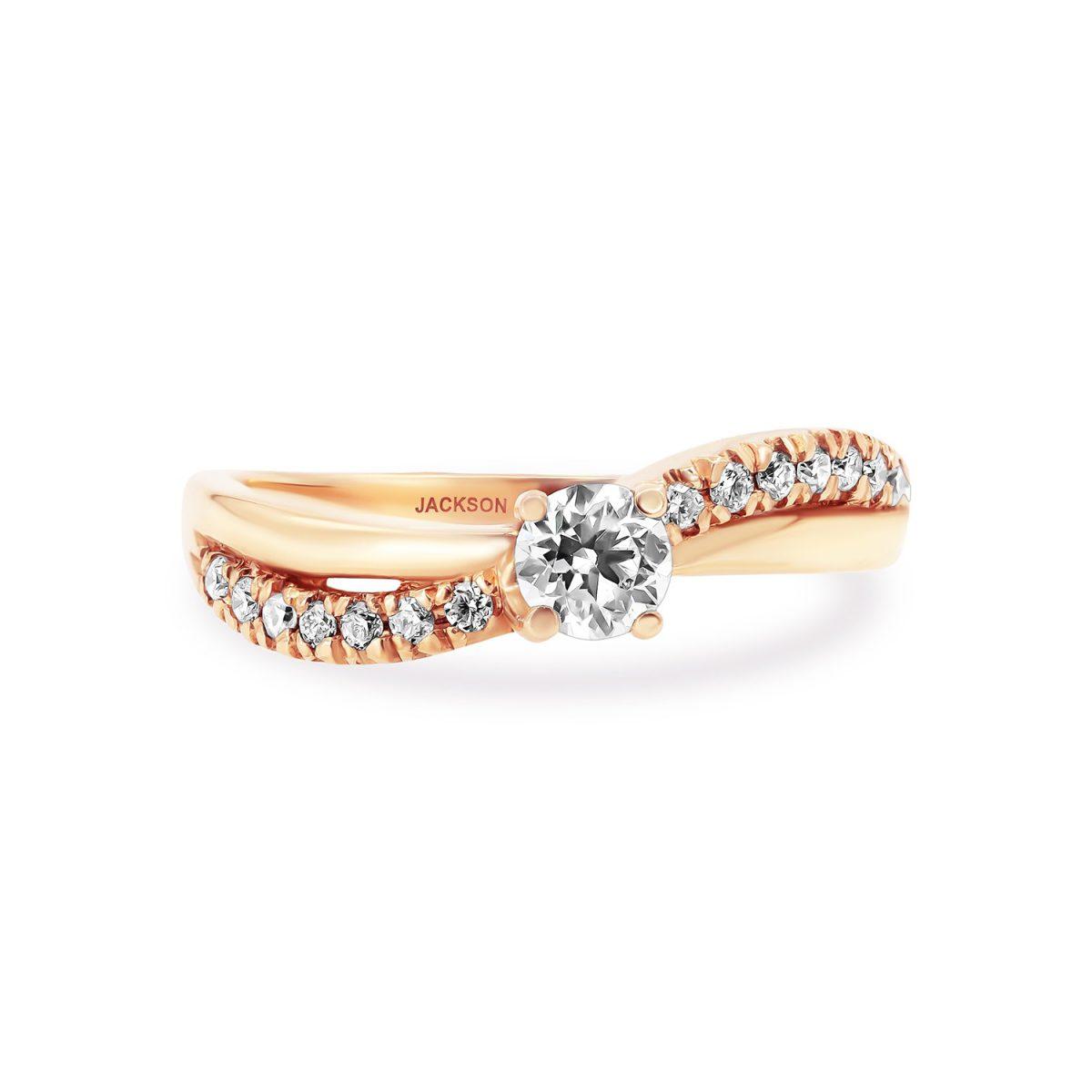 טבעת אירוסין נגה זהב אדום