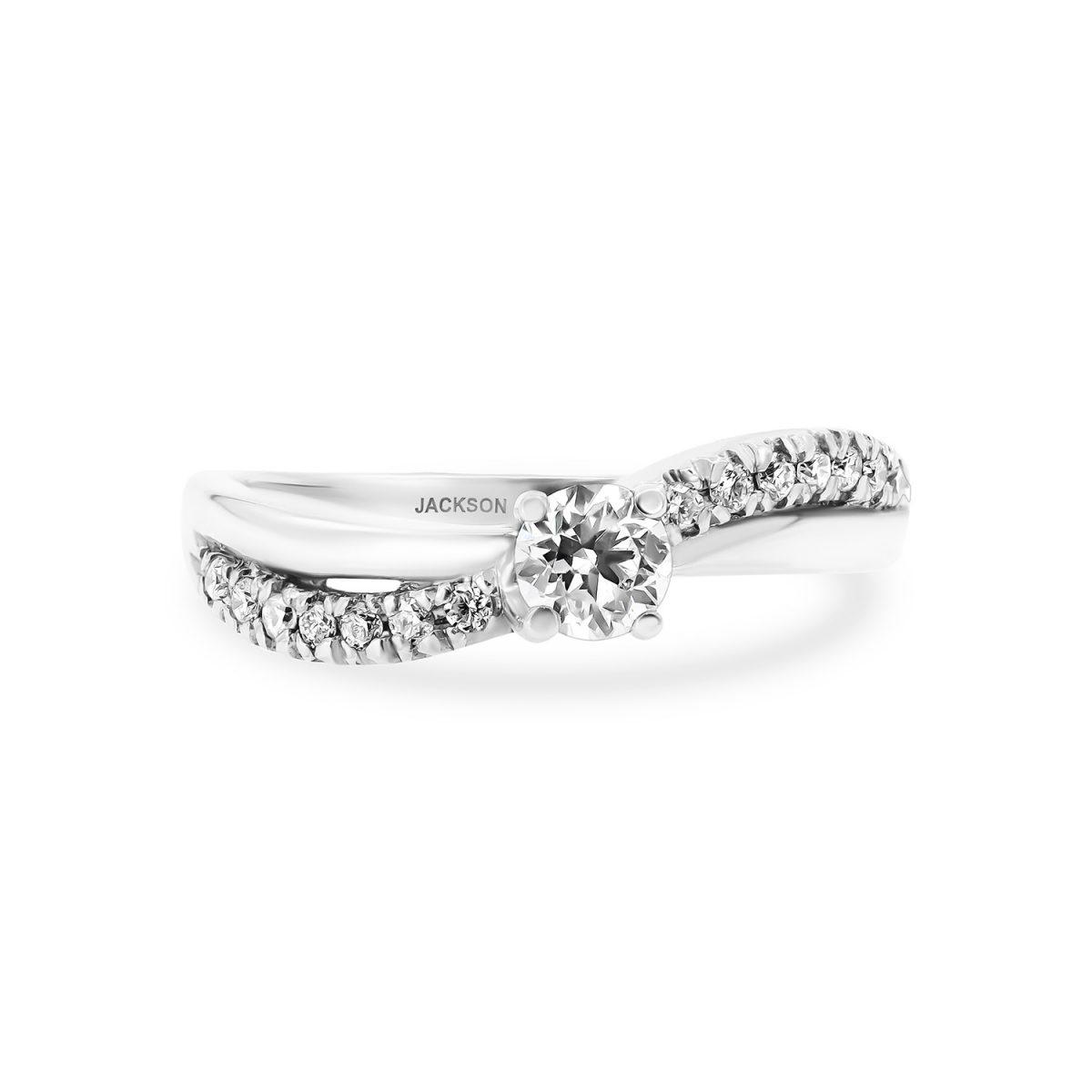 טבעת אירוסין נגה זהב לבן