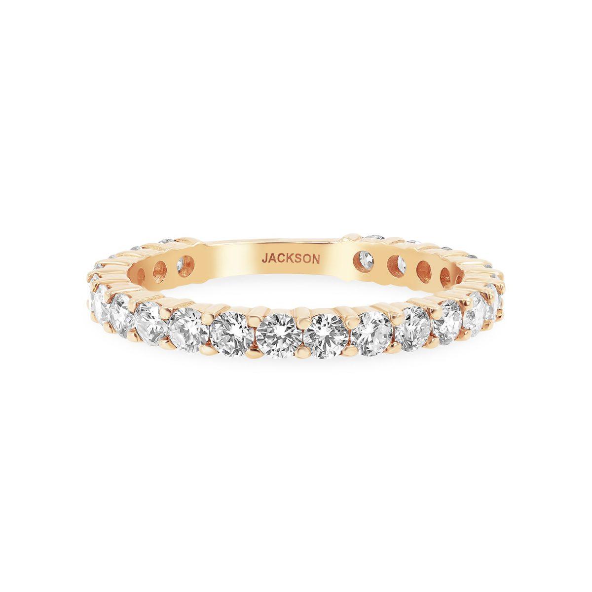 טבעת יהלומים סופיה זהב אדום
