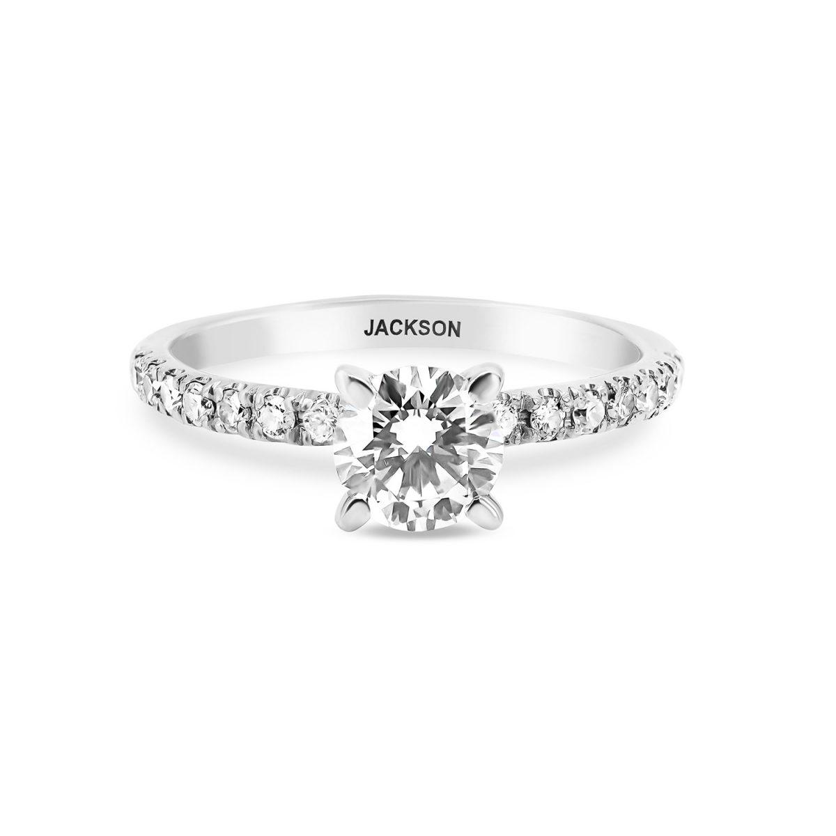 טבעת אירוסין סול זהב לבן