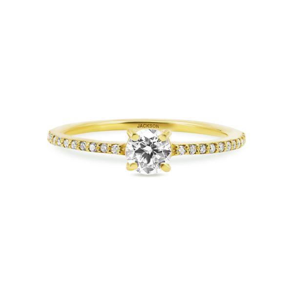 טבעת אירוסין עדי זהב צהוב