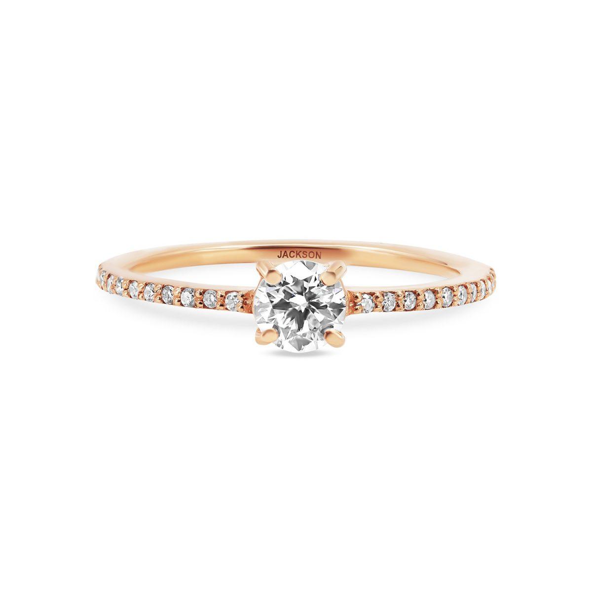 טבעת אירוסין עדי זהב אדום