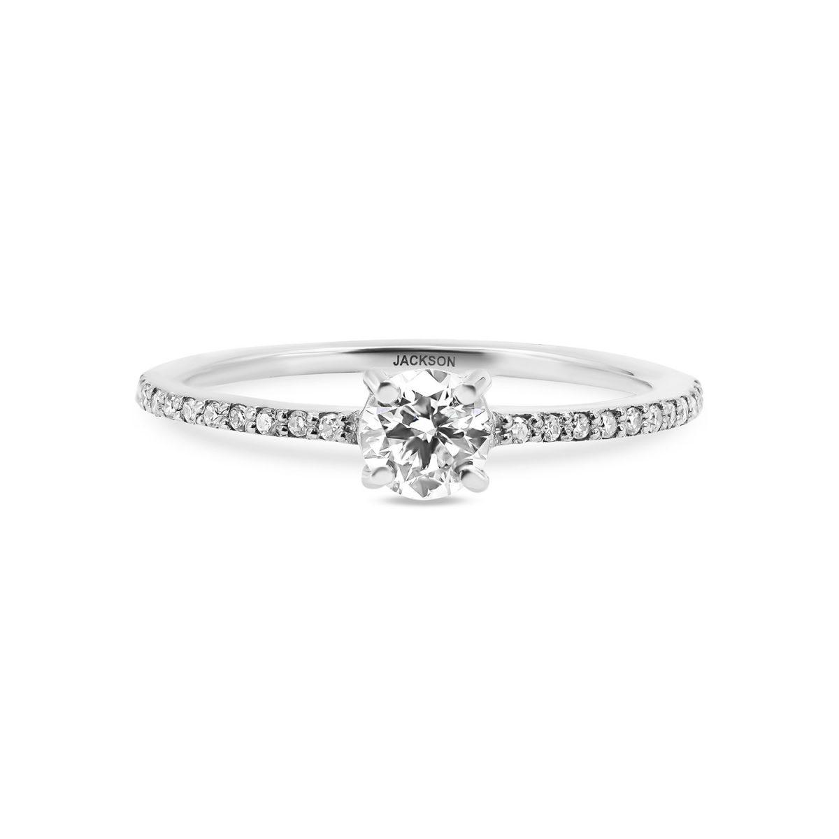 טבעת אירוסין עדי זהב לבן