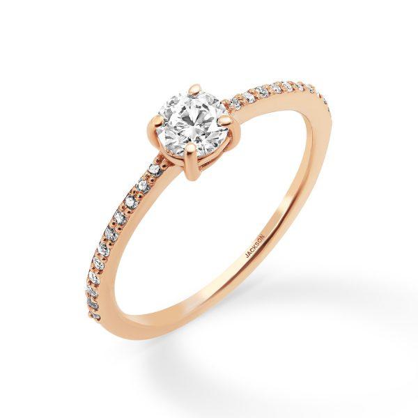 טבעת אירוסין עלמא זהב אדום